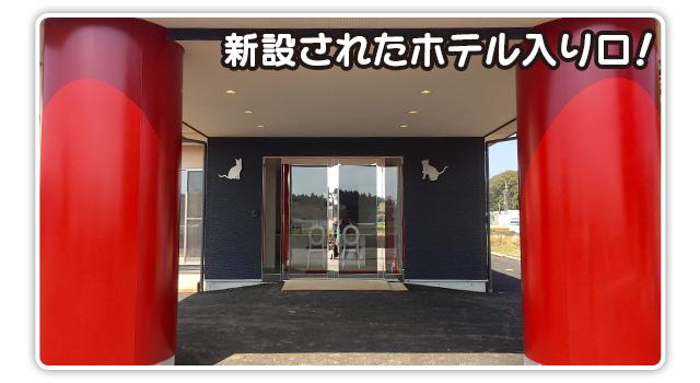 新設されたホテル入り口!